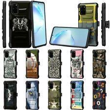 For Samsung Galaxy S20 Plus 6.7 Rugged Armor Hybrid Holster Belt Clip Case