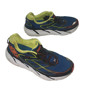HOKA ONE Clifton 3 Chaussures Course Orange Bleu Fluo Jaune Homme Taille 11