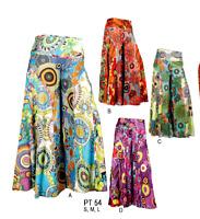 Wide Leg 100% Cotton Floral print Multi colour Trouser Dress  Zip waist Pants