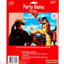 WESTERN COWBOY PARTY GAME POSTER ~ Country Birthday Supplies Decorations Plastic