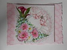 PK 2 PINK FLOWERS FOR SPECIAL OCCASIONS TOPPERS FOR CARDS OR CRAFT