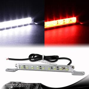 6000K White/Red 18LED Bolt-On Car Truck License Plate Light DRL Lamp Universal 5