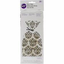 Wilton 20 Pk DAMASK White Black Party Sweets Gifts Cake Treats Favors Bags Craft