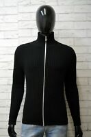 Gas Maglione Taglia M Uomo Pullover Felpa Cardigan Lana Sweater Nero Sweatshirt
