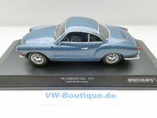 + VOLKSWAGEN VW Karmann Ghia Coupe 1:18 Minichamps 1970 blaumetallic 155054022