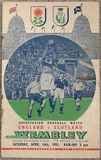 More details for england v scotland 1951