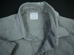 Vintage 40s 50s USN US Navy Academy Shirt Uniform Military Naval USA Sanforized
