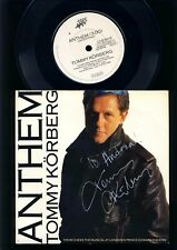 ABBA-chess-Tommy Körberg-Anthem - 7 Inch Vinyl-signed-autógrafo-EUR