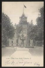 POSTCARD COSHOCTON OH/OHIO COUNTY COURT HOUSE BUILDING BLACK & WHITE VIEW 1906
