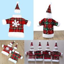 Christmas Bottle Cover Wine Clothes Cap Xmas Table Snowflake Dress Santa Claus