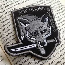 New Metal Gear Solid Fox hound Tactical Army Morale Hook &Loop Patch Gray