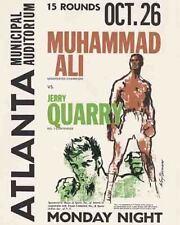 Vintage  POSTER  Rare  Muhammed Ali  Atlanta GA  famous comeback fight  1970