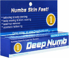 10gram DEEP NUMB Numbing Cream Tattoo Body Piercings Waxing Laser Dr USA SELLER