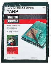 New listing Polyethylene Tarp, Green/Brown, 10 x 12-Ft.