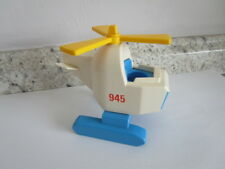 Vintage Fisher Price Little People Offshore Cargo Base Helicopter # 945