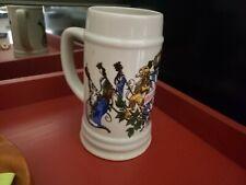 """Vintage Dn&Ei Porcelain Oktoberfest Beer Stein Mug; 6.5"""" tall"""