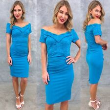 Gorgeous Blue Dress Size 18 Work Party Off The Shoulder
