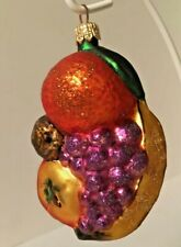 Fruit Cluster Slavic Treasures Hand Blown Glass Ornaments w/ Box