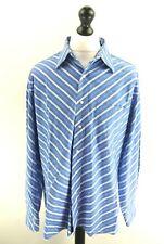 "TOMMY HILFIGER Mens Shirt UK XL US L 16.5"" Blue White Stripes Cotton"