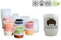 Plastic  Round Microwave Freezer Safe  Leakproof Food containers And Lids