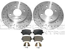 FOR VW GOLF MK5 R32 MK6 AUDI S3 REAR DRILLED 310mm BRAKE DISCS BREMBO BRAKE PADS
