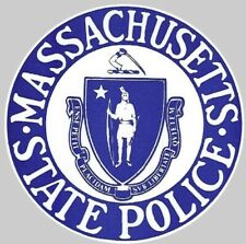 Massachusetts State Police Round Decal