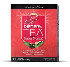 Laci Le Beau Super Dieter's Tea Bags Original - All Natural Botanicals, 60 ea