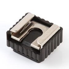 "1/4"" Screw Hole Speedlite Flash Cold Hot Shoe Mount Adapter F Canon Nikon Pentax"