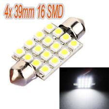 10x White Car Interior Dome C5W SMD 16 LED Festoon Bulb Light Lamp 39mm UK