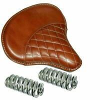 Royal Enfield Standard For Pure Leather Saddle Solo Seat With Springs Brown