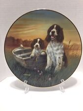 Bradford Exchange Collector Plate Fishing For Compliments 1194 Springer Spaniel