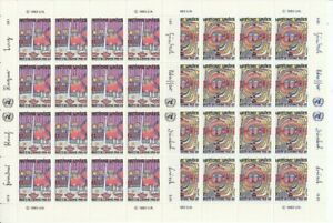 Un Geneva 117 - 18 Hundertwasser Human Rights Sheetlet Set