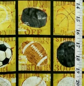 """30"""" Artly for Springs Creative Group CP53198 Sports Multicolor Fabric A"""