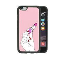 Pink Lipstick In Hand iPhone 6 7 8 X XR Xs Max Samsung S7 S8 S9 Plus Phone Case