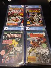 Werewolf by Night 32 CGC 9.0 1st Appearances of Moon Knight Set of four books.