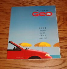 Original 1992 Geo Full Line Deluxe Sales Brochure 92 Prizm Metro Tracker Storm