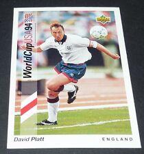 DAVID PLATT JUVENTUS ENGLAND FOOTBALL CARD UPPER DECK USA 94 PANINI 1994 WM94