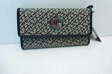 TOMMY HILFIGER  Women's Wallet* Black/Khaki Clutch w/ Checkbook Case New