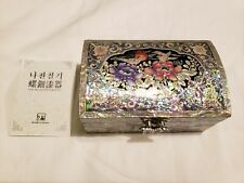 Authentic Made in Korea Decorative Pearl Vintage Jewelry Box