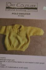 Oat Couture Knitting Pattern Polo Sweater for Baby 6-18 months