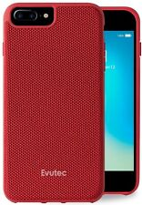 Evutec Case for iPhone 6 plus/6s plus/7 plus/8 plus, Red Ballistic Nylon Cover
