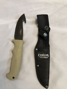 "Camllus Titanium Knife Black Finish 4""Straight Blade"