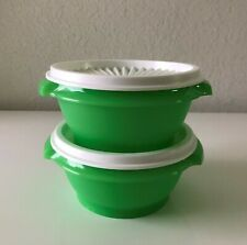 Tupperware Servalier Bowls 10 oz  Set of 2  Containers Green New