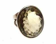 Gemstone Jewellery Lemon Quartz Jewellery Lemon Quartz Ring 925 Silver Size L