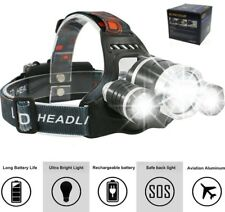 Kopflampe Stirnlampe Cree LED Oramics Boruit. mit 3x LED, USB-LadeSystem 2x Akku