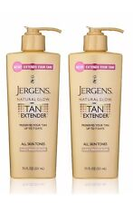 Jergens Natural Glow Tan Extender Daily Moisturizer 7.50 oz Each Lot of 2