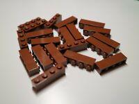 10 X LEGO 1x4 Brown 1 x 4 BRICKS  3010