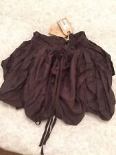 All Saints Flared Brown Skirt Size Uk 6 Will Also Fit Uk 8-10 RRP 60£ BNWT