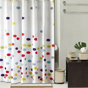 Colorful Polka Dots pattern Bathroom Fabric Shower Curtain 8s854