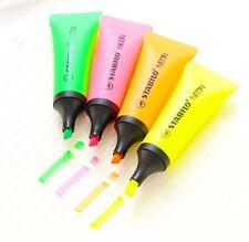 STABILO NEON TUBE HIGHLIGHTER MARKER PEN Set of 2 (Yellow,Green,Orange,Pink)